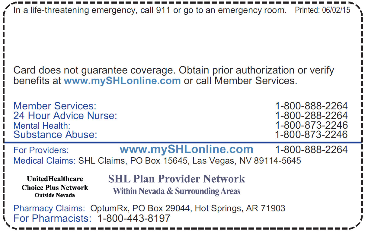 Shl Provider Directories A Doctor Provider Sierra Health And Life